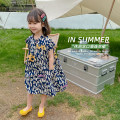 Dress Navy Blue female Other / other 80cm,90cm,100cm,110cm,120cm,130cm,140cm Other 100% summer leisure time Short sleeve lattice other other AUT1520 12 months, 3 years, 6 years, 18 months, 2 years, 5 years, 10 years, 4 years Chinese Mainland Zhejiang Province