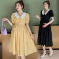 Dress Puff puff Yellow, black M,L,XL Medium length