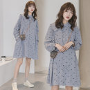 Dress Puff puff Picture color M,L,XL,XXL Korean version Long sleeves Medium length spring stand collar Dot Pure cotton (95% and above) 268#