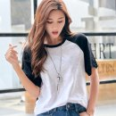 T-shirt Black and white M L XL 2XL 3XL 4XL Summer of 2019 Short sleeve Crew neck easy Regular raglan sleeve commute cotton 96% and above 25-29 years old Korean version other Solid color mosaic Sapin language ZY8201 Cotton 100% Pure e-commerce (online only)