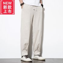 Casual pants Others other 【M】 The recommended body weight is 120-135 kg, [l] 140-150 kg, [XL] 155-165 kg, [2XL] 170-185 kg, [3XL] 190-205 kg, [4XL] 210-225 kg trousers Other leisure easy summer Chinese style Other 100% cotton Cotton and hemp