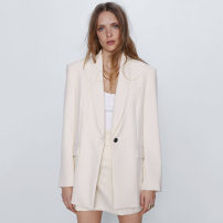 short coat Spring 2020 XS,S,M,L As shown in the figure Long sleeves routine routine singleton  Straight cylinder street routine tailored collar TRAF 96% and above 2434/488 2434488