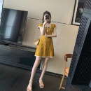 Dress Summer 2021 Yellow, black, tail goods are delivered randomly Average size 18-24 years old Other / other More than 95%