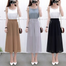 Casual pants S M L XL Summer of 2018 Ninth pants Wide leg pants High waist commute Thin money 18-24 years old 31% (inclusive) - 50% (inclusive) 8315#
