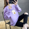 Sweater / sweater Winter 2020 M L XL 2XL 3XL 4XL 5XL Long sleeves routine Socket singleton  Plush Crew neck easy commute routine Cartoon animation 18-24 years old 96% and above Dai Meixin Korean version other ZCLA22289 printing polyester fiber Cotton liner New polyester fiber 100%