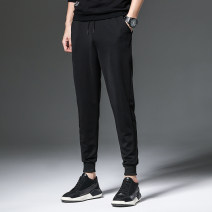 Casual pants Lork & deem / locktimon Youth fashion Basic color (black, gray, white, etc.) M L XL 2XL 3XL 4XL routine trousers Other leisure Self cultivation Micro bomb autumn teenagers tide 2017 low-waisted Little feet Polyester 95% polyurethane elastic fiber (spandex) 5% Tapered pants washing