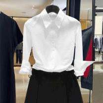 shirt White cotton elastic (small size), black cotton elastic (small size), dark blue cotton elastic (small size) S,M,L,XL,2XL Spring 2021 cotton 51% (inclusive) - 70% (inclusive) Long sleeves Versatile Regular Polo collar Single row multi button routine Solid color 35-39 years old Self cultivation