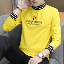 T-shirt Youth fashion 5026: Yellow 5026: white 5026: Black 5026: Blue 5024: Yellow 5024: white 5024: Black 5024: Blue routine M L XL 2XL 3XL Qfyufish Long sleeves High collar standard daily winter five thousand and twenty-six point three zero Polyester 95% polyurethane elastic fiber (spandex) 5%