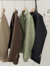 suit Autumn 2020 Black, green, khaki, brown Average size Long sleeves Medium length easy tailored collar Single breasted commute shirt sleeve Solid color 18-24 years old 96% and above cotton