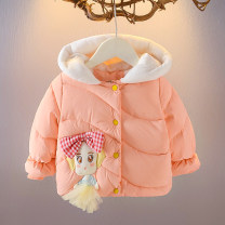 Cotton padded jacket female other David Tommy / David Tommy The cap is not detachable thickening Single breasted college Cartoon animation No model in real shooting cotton Crew neck 5% polyester cotton 94 20D183 Cotton liner 12 months, 9 months, 18 months, 2 years, 3 years, 4 years Winter 2020 winter