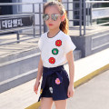 suit Other / other female summer Korean version Short sleeve + pants 2 pieces Thin money There are models in the real shooting Socket nothing Broken flowers Cotton blended fabric children Giving presents at school Class B Other 100%
