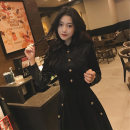 Dress Winter 2020 black S M L XL longuette singleton  Long sleeves commute other High waist Solid color Single breasted other routine Others 18-24 years old Type A ikllo Korean version Splicing thread More than 95% other other Other 100% Exclusive payment of tmall