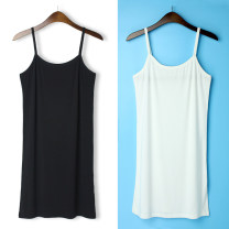 Vest sling Summer 2020 White, black Average size singleton  Medium length Self cultivation Versatile camisole Solid color 18-24 years old 31% (inclusive) - 50% (inclusive) cotton Other / other