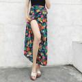 skirt Summer 2020 Slim waist, fat and thin longuette Versatile Decor Chiffon