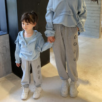 Parent child fashion Grey, rose pink Women's dress female Other / other 90cm, 100cm, 110cm, 120cm, 130cm, 140cm, mom's average size (within 125kg) Casual pants spring and autumn Korean version routine other trousers cotton Average size qz161