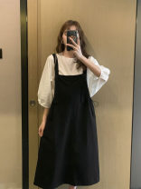 suit Other / other Black and white with skirt 12211, gray with skirt 12211 Average size Europe and America spring and autumn routine Solid color WS001533