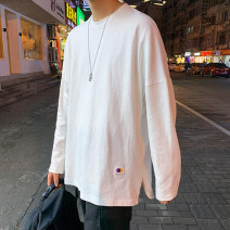 T-shirt Youth fashion routine M L XL 2XL Densavan Long sleeves Crew neck easy Other leisure spring Cotton 55% polyester 45% teenagers Off shoulder sleeve like a breath of fresh air Spring 2020 other Cloth decoration cotton Pure e-commerce (online only)