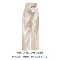 Casual pants Khaki, black, beige S,M,L,XL Spring 2021 trousers loose  High waist commute routine 18-24 years old 31% (inclusive) - 50% (inclusive) Korean version