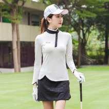 Golf apparel White jacket, white skirt, black skirt S,M,L,XL,XS female Ttygj (clothing) Long sleeve T-shirt T112
