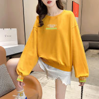 Sweater / sweater Autumn 2020 Yellow, gray, orange M,L,XL,2XL Long sleeves routine Socket singleton  Thin money easy routine letter 18-24 years old A2305