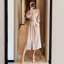 Wedding dress Spring 2021 Milk tea color, black temperament S,M,L,XL other High waist 71% (inclusive) - 80% (inclusive)