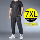 Leisure sports suit spring XL recommended 140-160 kg, 2XL recommended 160-180 kg, 3XL recommended 180-200 kg, 4XL recommended 200-220 kg, 5XL recommended 220-240 kg, 6xl recommended 240-260 kg, 7XL recommended 260-280 kg Short sleeve Other / other trousers Large size T-shirt 72121 set polyester fiber