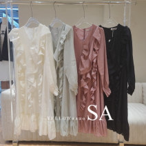 Dress Spring 2021 Apricot, green, black, pink Average size