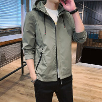 Jacket Rayolid / thunder Rhino Youth fashion Black light green grey M L XL XXL 3XL 4XL routine easy Other leisure autumn YLYJR:2002-LXD-2 Other 100% Long sleeves Wear out Hood tide youth routine Zipper placket No iron treatment Closing sleeve Solid color Autumn 2020 Side seam pocket