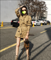 Windbreaker Autumn 2020 S,M,L Long sleeves routine Medium length commute Single breasted stand collar routine Straight cylinder Korean version 18-24 years old 31% (inclusive) - 50% (inclusive) other