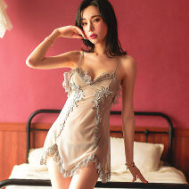 Nightdress Other / other M, L sexy camisole pajamas Short skirt summer Solid color youth More than 95% 200g and below