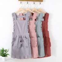 apron Pink red light gray light green cherry powder (apron + sleeve) bean paste red (apron + sleeve) cold silver gray (apron + sleeve) mint green (apron + sleeve) Sleeveless apron waterproof Korean version other Household cleaning Average size XJ001 Chen Jia public no Tender girl's heart