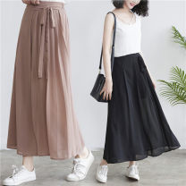 Women's large Spring 2021, summer 2021 Khaki, black Average size [recommended 100-160 kg] trousers singleton  commute easy moderate Solid color literature polyester Three dimensional cutting 51% (inclusive) - 70% (inclusive) Ninth pants
