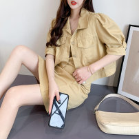 Fashion suit Summer 2021 S M L Khaki blue jujube 18-25 years old Impression of Matcha MC9581 Cotton 100% Pure e-commerce (online only)
