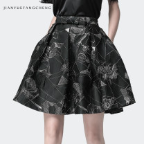 skirt Autumn 2020 S M L XL XXL XXXL XXXXL Decor Short skirt commute High waist Fluffy skirt Decor 30-34 years old BX6987 51% (inclusive) - 70% (inclusive) Silk and satin Reduced equation polyester fiber Korean version Polyester 60% metal 22% polyamide 18% Pure e-commerce (online only)