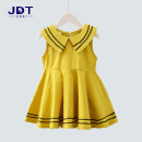 Dress female Jackie rabbit Cotton 100% summer Korean version Skirt / vest Solid color cotton A-line skirt other Summer of 2018 12 months, 2 years, 3 years, 4 years, 5 years, 6 years, 7 years