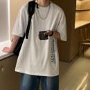 T-shirt Youth fashion White black blue yellow routine 4XL 5XL S M L XL 2XL 3XL E.MEISA Short sleeve Crew neck easy Other leisure summer E20N671535 Cotton 95% polyethylene terephthalate (polyester) 5% teenagers routine tide Slub yarn Spring 2021 other printing cotton Creative interest Fashion brand