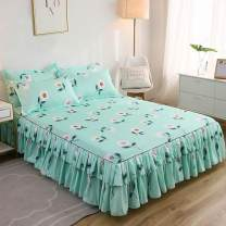 Bed skirt 120x200cm, 150x200cm, 180x200cm, 200x220cm and 180x220cm, respectively cotton Other / other Plants and flowers First Grade