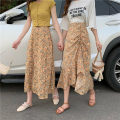 skirt Summer 2020 S,M,L Long purple, long yellow, drawstring purple, drawstring yellow Mid length dress commute High waist A-line skirt Decor Type A 18-24 years old 30% and below Other / other other