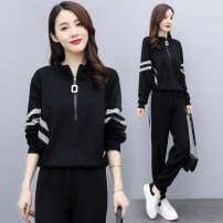 Women's large Summer 2021 Picture color Average size singleton  commute easy Socket Long sleeves Solid color Korean version stand collar routine cotton routine OBL214533 Ou Beiling 30-34 years old zipper Polyester 100% Pure e-commerce (online only) trousers zipper