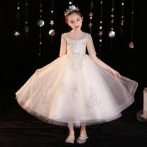Children's dress Champagne female 100cm 110cm 120cm 130cm 140cm 150cm 160cm Ropg Class B Polyester 100% Spring 2021 3 years old, 4 years old, 5 years old, 6 years old, 7 years old, 8 years old, 9 years old, 10 years old, 11 years old, 13 years old, 14 years old princess