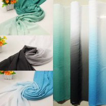 Fabric / fabric / handmade DIY fabric chemical fiber Hole green light green gradient, blue white gradient, black and white gradient, pink white, blue purple white, green white, rose red white, west red white, purple white, hole green white Loose shear rice Solid color printing and dyeing clothing