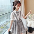 Dress D60-r-black, q65-c-pink female Other / other The recommended height is about 105cm for 110, 115cm for 120, 125cm for 130, 135cm for 140, 145cm for 150 and 155cm for 160 Cotton 100% summer Korean version Long sleeves Broken flowers cotton A-line skirt O26475 Class B 6 months
