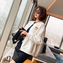 short coat Spring 2021 M, L white Long sleeves routine routine singleton  easy commute routine stand collar zipper shape 25-29 years old