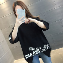 T-shirt Black white yellow Average size Spring 2020 Short sleeve Crew neck easy Regular routine commute other 96% and above 18-24 years old Korean version youth letter Chevensie XFX3595 printing Other 100% Pure e-commerce (online only)