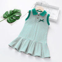Dress female Other / other 100cm,110cm,120cm,130cm,140cm Other 100% summer Korean version Skirt / vest stripe cotton Class B 18 months, 2 years old, 3 years old, 4 years old, 5 years old, 6 years old Chinese Mainland Guangdong Province Foshan City