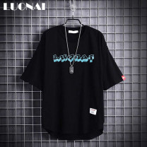 T-shirt Youth fashion Black and white routine M L XL 2XL Rosnay  Short sleeve Crew neck easy Other leisure summer LN21A-BZ0277C Cotton 100% youth routine tide other Summer 2021 Alphanumeric printing other Creative interest No iron treatment Pure e-commerce (online only)