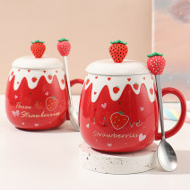 Mug ceramics 501ml (inclusive) - 600ml (inclusive) 20-29.9 yuan Cartoon Chinese Mainland Self made pictures Tender girl's heart public yes