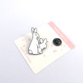 Brooch Alloy / silver / gold RMB 1.00-9.99 Ruanme / soft girl rabbit brand new goods in stock Japan and South Korea lovers Fresh out of the oven Alloy inlaid artificial gem / semi gem Bear / pig / animal l6