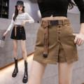 skirt Summer 2021 S,M,L,XL Khaki, black Short skirt commute High waist A-line skirt Type A 18-24 years old JZT 51% (inclusive) - 70% (inclusive) other other Korean version