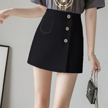 skirt Summer 2021 S,M,L,XL White, black Short skirt commute High waist Irregular Solid color Type A 18-24 years old JZT 51% (inclusive) - 70% (inclusive) other Chloroprene Embroidery, beading, zipper Korean version